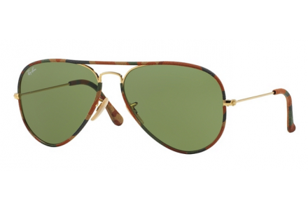Lunettes de soleil mixte RAY BAN Ecaille RB 3025 JM AVIATOR FULL COLOR 001 58/14