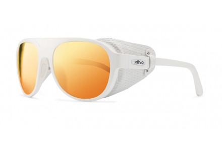 Lunettes de soleil mixte REVO Blanc 35-1036 Col 09OG