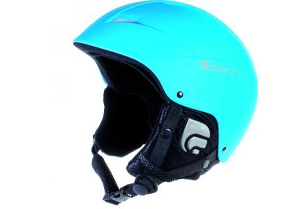 Casque de ski pour enfant CAIRN Bleu ANDROID J Turquoise Fluo Brillant 54/56