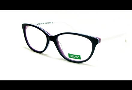 Lunettes de vue pour femme BENETTON Noir BN 399 NOIR/03 55/16
