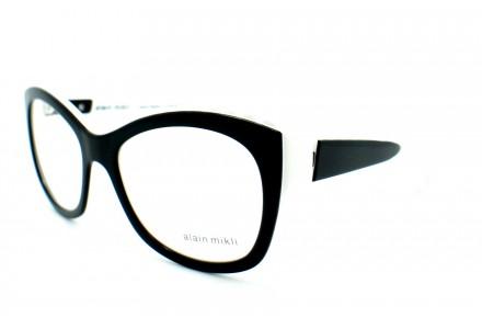 Lunettes de vue pour femme ALAIN MIKLI Noir Blanc AL 1400 3074 53/18