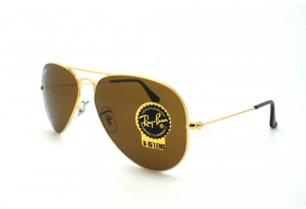 Lunettes de soleil mixte RAY BAN Or RB 3025 AVIATOR 001/33-55/14