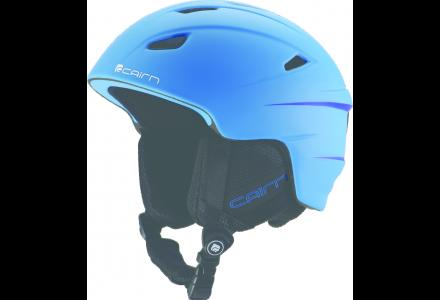 Casque de ski pour enfant CAIRN Bleu ELECTRON J Turquoise Fluo mat 56/58