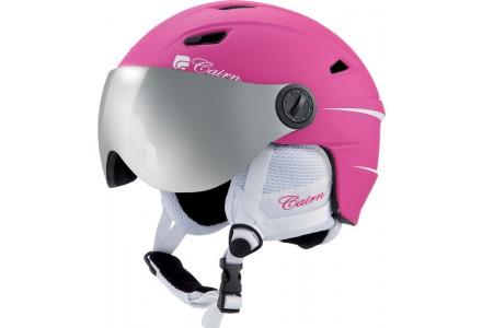 Casque de ski mixte CAIRN Rose ELECTRON VISOR Fuchsia Mat 55/56