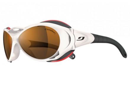 Lunettes de soleil mixte JULBO Blanc Explorer blanc brillant / rouge Caméleon