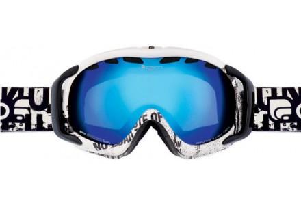 Masque de ski mixte CAIRN Noir FREEDOM Texte Noir Brillant  SPX 3000