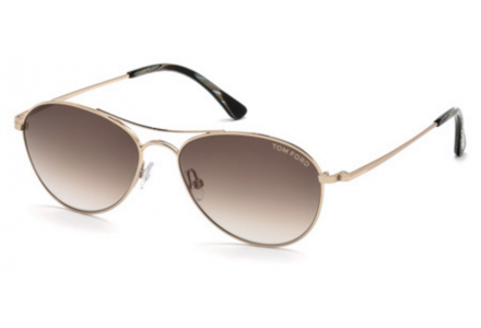 Lunettes de soleil mixte TOM FORD Or TF 0495 28F 56/16