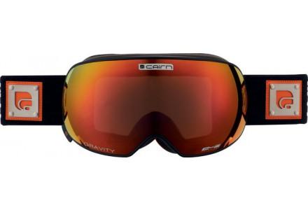 Masque de ski mixte CAIRN Noir Mat GRAVITY Noir Mat Orange SPX3000