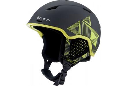 Casque de ski mixte CAIRN Noir INFINITI Orange Noir Evolution Lemon 56/58
