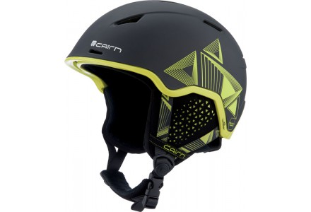 Casque de ski mixte CAIRN Noir INFINITI Orange Noir Evolution Lemon 54/56