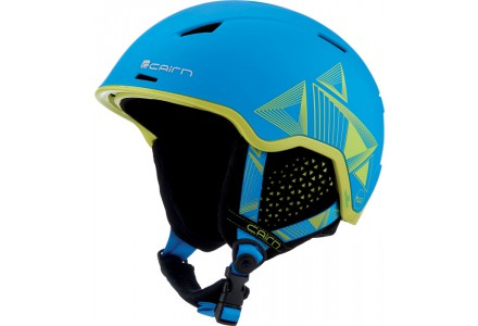Casque de ski mixte CAIRN Bleu INFINITI Cyan Spacial Evolution Lemon 54/56