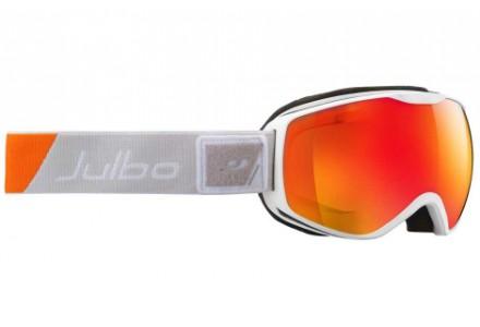 Masque de ski mixte JULBO Blanc ISON DLX  Blanc / Orange / Gris - Spectron 3+