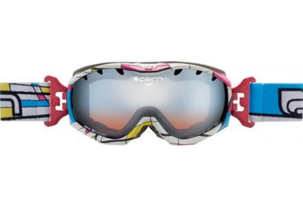 Masque de ski pour femme CAIRN Blanc JAM Placed Colors SPX 3000