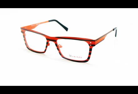 Lunettes de vue pour femme MARITZA Orange M 0257 NOIR / ORA 50/18