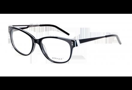 Lunettes de vue pour femme DIXIT Noir Blanc MEMPHIS M1 54/17