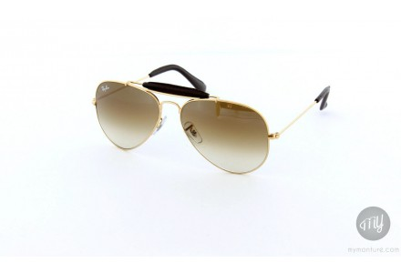 Lunettes de soleil mixte RAY BAN Or RB 3422-Q AVIATOR CRAFT 001/51-58/14