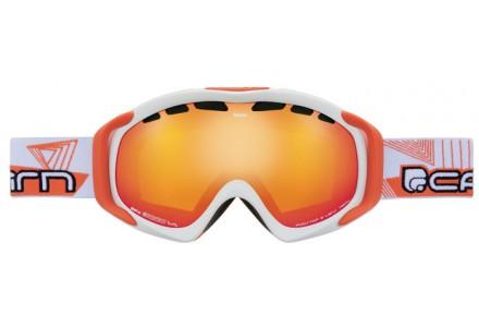 Masque de ski mixte CAIRN Blanc NEON Blanc Mat Orange SPX 3000 IUM