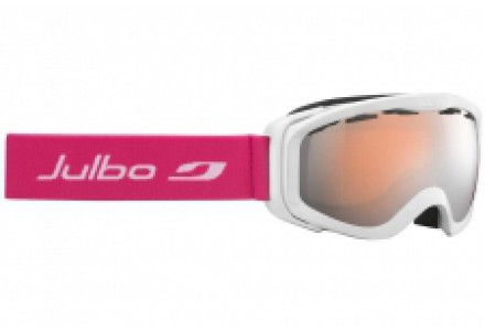 Masque de ski pour enfant JULBO Blanc Pluto Blanc / Fushia Spectron 3 Miroir