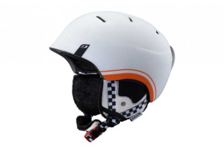 Casque de ski mixte JULBO Blanc POWER Blanc / Orange - 60/62