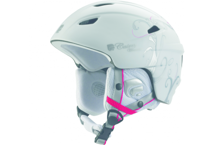 Casque de ski pour femme CAIRN Blanc PROFIL Blanc Mat vegetal Argent 56/58
