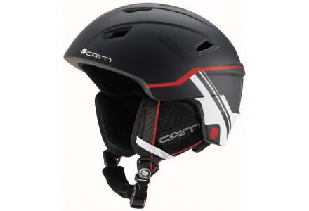 Casque de ski mixte CAIRN Noir Mat PROFIL Noir Mat Racing Rouge 57/58