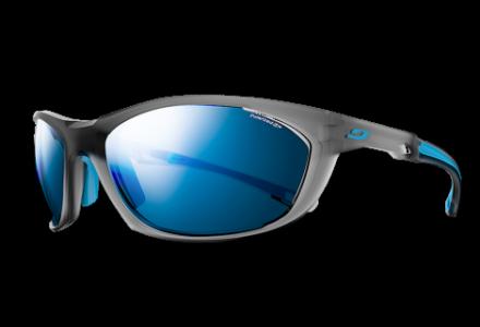 Lunettes de soleil pour homme JULBO Gris Race 2.0 Gris Translucide mat / Bleu Polarized 3+