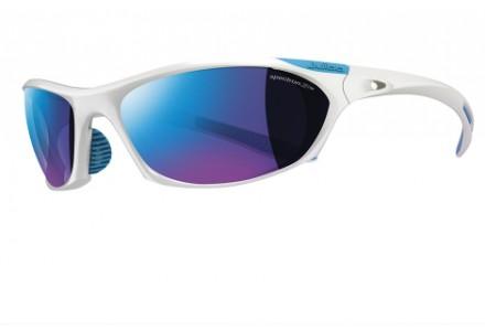 Lunettes de soleil pour homme JULBO Blanc Race Blanc brillant / Bleu Spectron 3 CF
