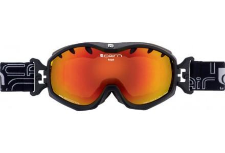 Masque de ski mixte CAIRN Noir Mat RAGE Noir Mat/Miroir Orange SPX 3000