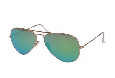Lunettes de soleil mixte RAY BAN Or RB 3025 AVIATOR 112/19 55/14