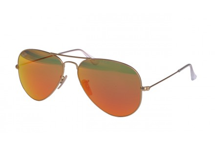 Lunettes de soleil mixte RAY BAN Or RB 3025 AVIATOR 112/69 55/14