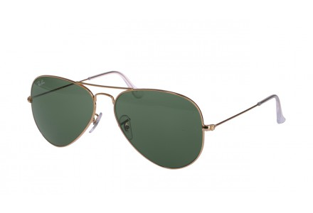 Lunettes de soleil mixte RAY BAN Or RB 3025 AVIATOR L0205 58/14