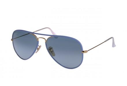 Lunettes de soleil mixte RAY BAN Bleu RB 3025 JM AVIATOR FULL COLOR 001/4M 58/14