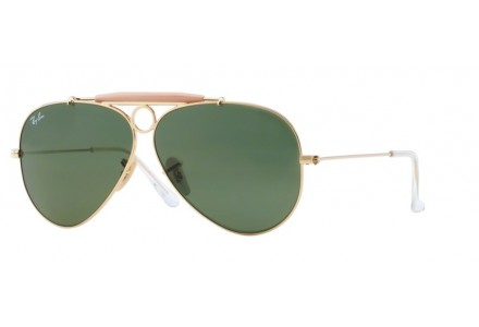 Lunettes de soleil pour homme RAY BAN Or RB 3138 SHOOTER 001 58/9
