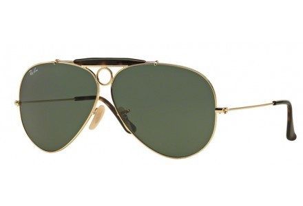 Lunettes de soleil pour homme RAY BAN Or RB 3138 SHOOTER 181 62/9