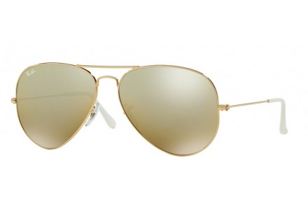 Lunettes de soleil mixte RAY BAN Or RB 3025 AVIATOR 001/3K 58/14