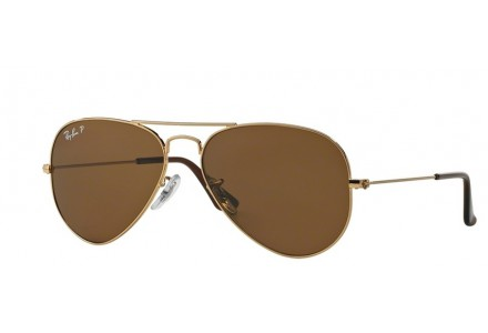 Lunettes de soleil mixte RAY BAN Or RB 3025 AVIATOR 001/57 62/14