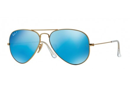 Lunettes de soleil mixte RAY BAN Or RB 3025 AVIATOR 112/4L 58/14