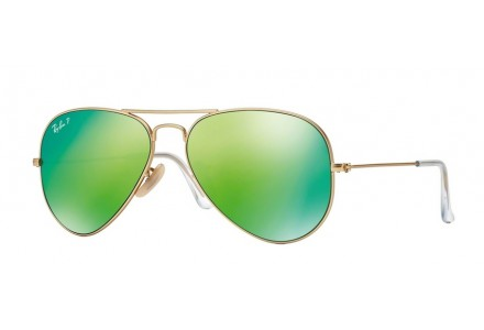 Lunettes de soleil mixte RAY BAN Or RB 3025 AVIATOR 112/P9 58/14
