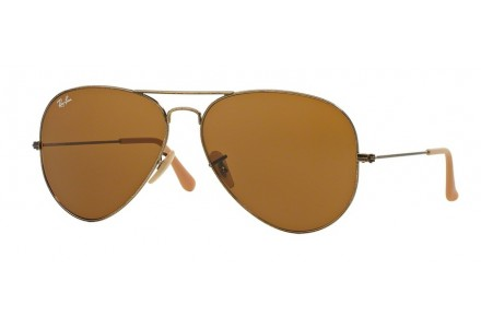 Lunettes de soleil mixte RAY BAN Or RB 3025 AVIATOR 177/33 58/14