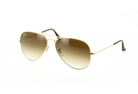 Lunettes de soleil mixte RAY BAN Or RB 3025 AVIATOR 001/51 55/14
