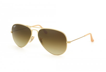 Lunettes de soleil mixte RAY BAN Or RB 3025 AVIATOR 112/85 58/14