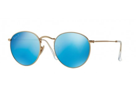 Lunettes de soleil mixte RAY BAN Or RB 3447 ROUND METAL 112/4L 50/21