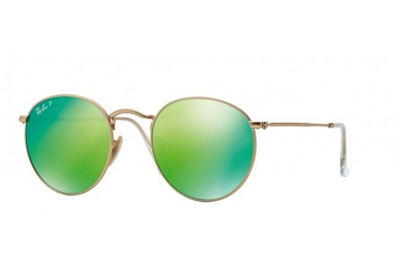Lunettes de soleil mixte RAY BAN Or RB 3447 ROUND METAL 112/P9 50/21