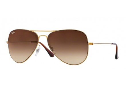 Lunettes de soleil mixte RAY BAN Or RB 3513 AVIATOR FLAT METAL 149/13 58/15
