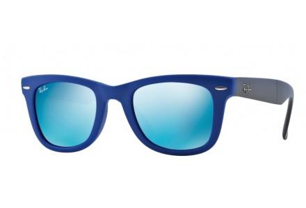 Lunettes de soleil pour homme RAY BAN Bleu RB 4105 FOLDING WAYFARER 602017 50/20