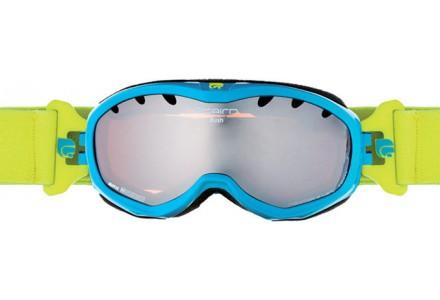 Masque de ski pour enfant CAIRN Bleu RUSH Turquoise/vert Pale Brillant SPX 3000
