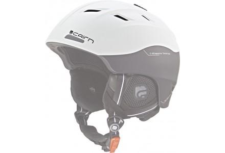 Casque de ski mixte CAIRN Blanc SPECTRAL VISOR Noir Blanc mat  50/51