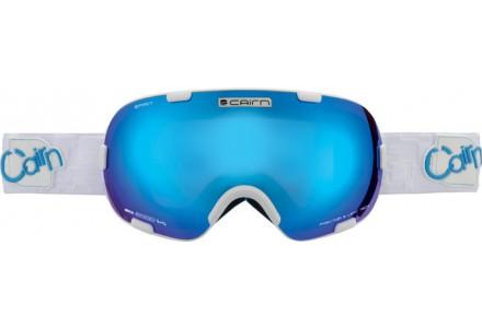 Masque de ski mixte CAIRN Blanc SPIRIT Blanc Mat/Bleu SPX 3000