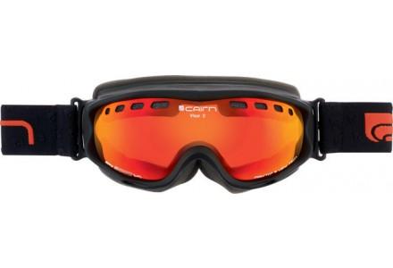 Masque de ski pour femme CAIRN Noir Mat VISOR D OTG Noir Mat/ Miroir Orange SPX 3000