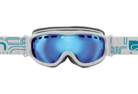 Masque de ski pour femme CAIRN Blanc VISOR D OTG Blanc Mat/ Miroir Bleu SPX 3000